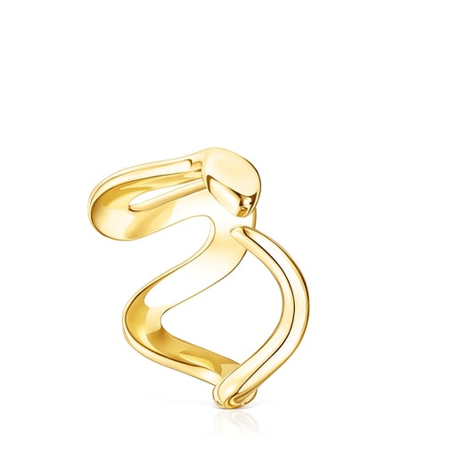 Silver Vermeil Fragile Nature snake Ring