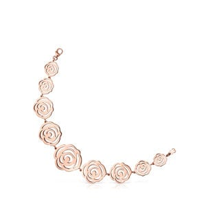 Bracelet Rosa de Abril en Or Vermeil rose