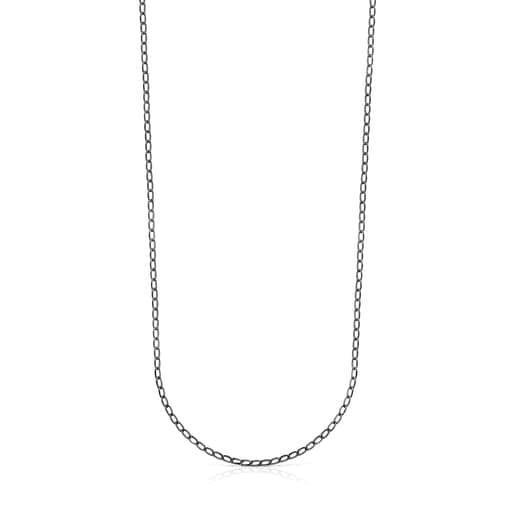 Collar TOUS Chain oval de Plata Dark Silver