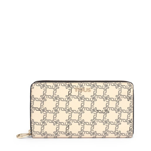 Medium beige TOUS Logogram wallet