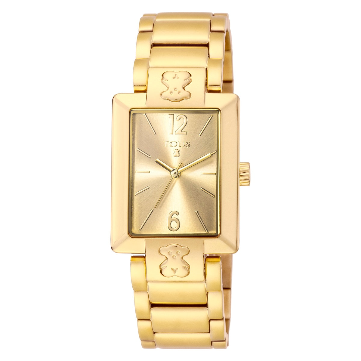 Reloj Plate SQ de acero IP dorado