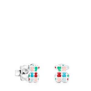Pendientes Tartan de Plata con Esmalte