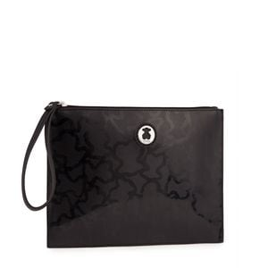 Black colored Kaos Shiny Clutch bag