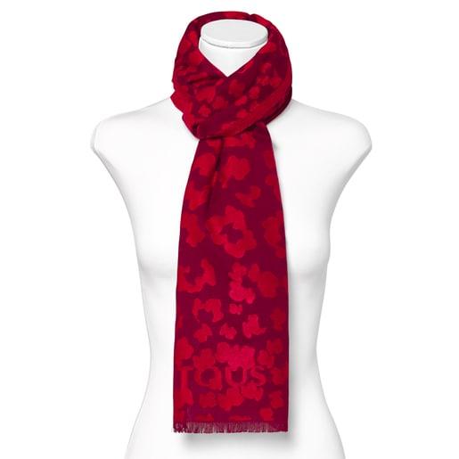 Foulard Granate Leo jacquard rojo