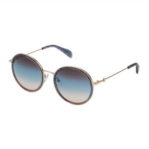 Blue Metal and Acetate Sunset Sunglasses
