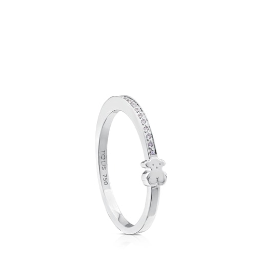 Anillo Puppies de Oro blanco con Diamantes