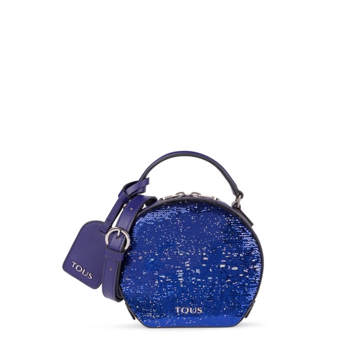 Mini purple Dulzena Sequins crossbody bag