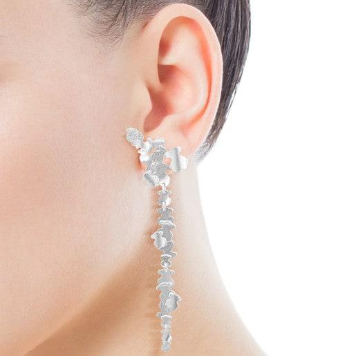 Silver Hill Earrings Bear motifs