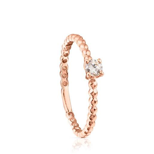 Anillo TOUS Brillants de Oro rosa con Diamante