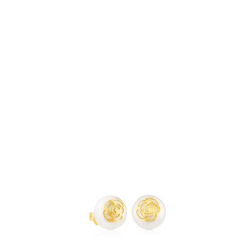 Pendientes Rosa d'Abril de Oro