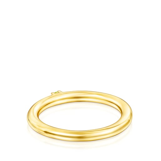 Silver Vermeil and yellow Sapphire TOUS Ring Mix Ring