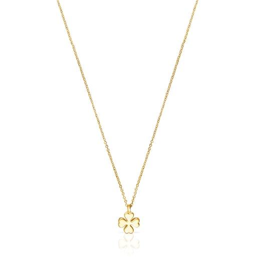 Halskette TOUS Good Vibes Kleeblatt aus Gold