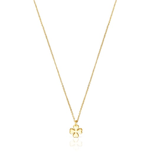 Gold TOUS Good Vibes clover Necklace