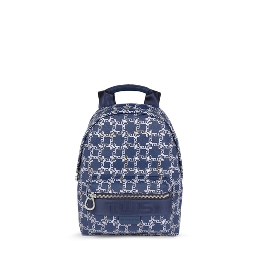 Small navy Tous Logogram backpack