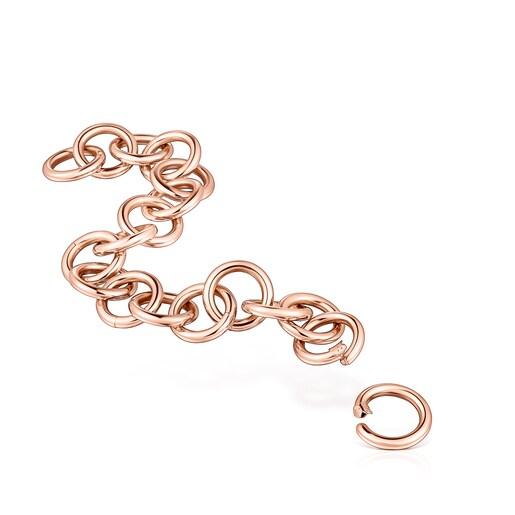 Bracelet d'anneaux Hold en Or Vermeil rose