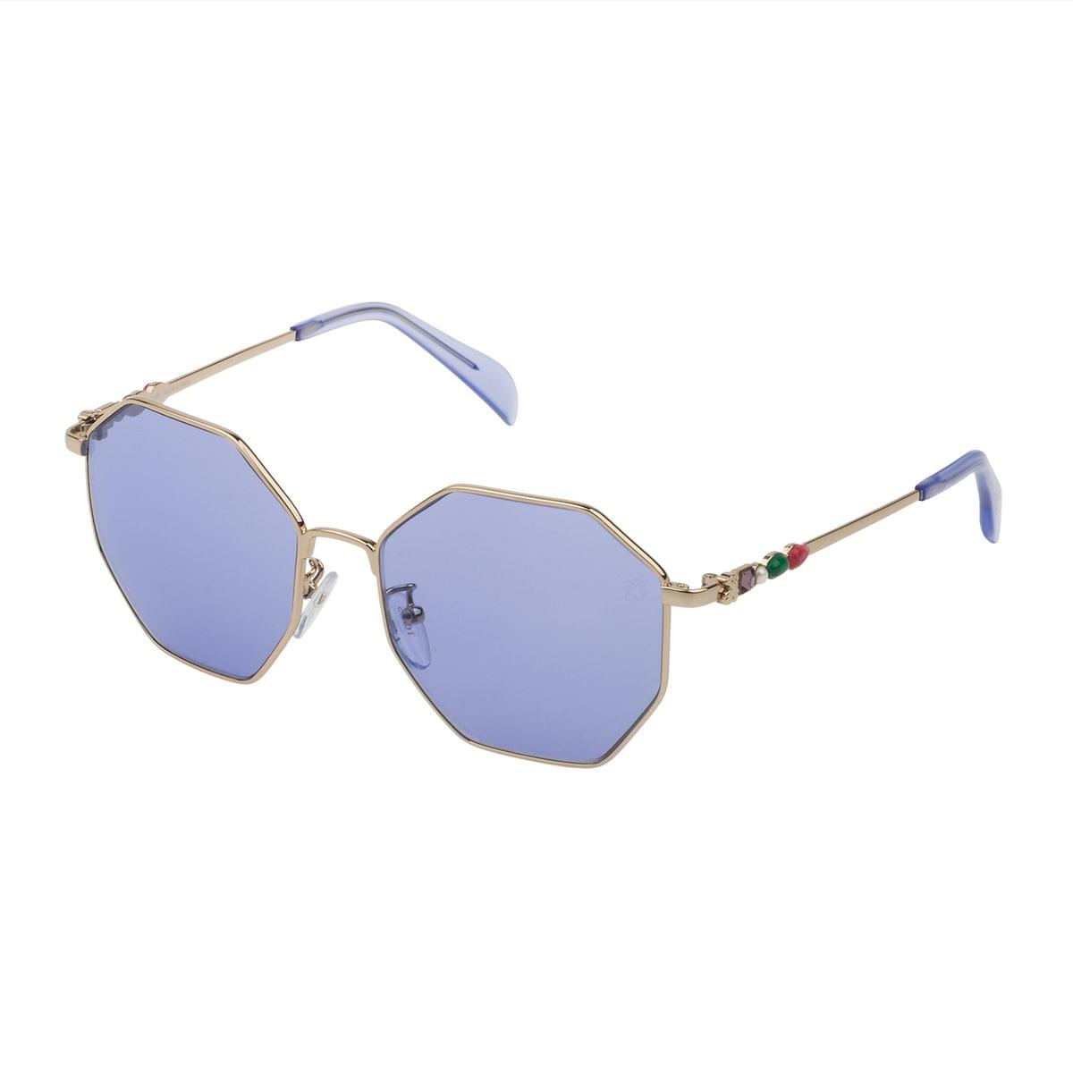 Óculos de sol Jolie Seventies em Metal na cor azul
