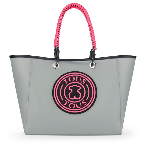 Large gray TOUS Rubber Tote bag