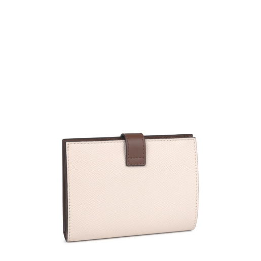 Small beige and brown TOUS Essential Wallet