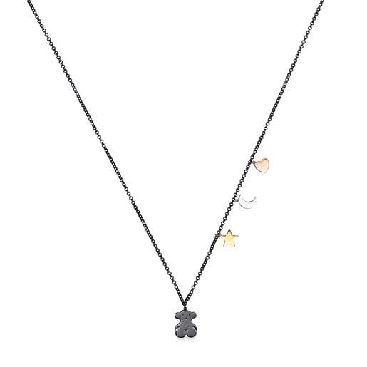 Collar Sweet Dolls de Plata Dark Silver, Plata Vermeil, Plata Vermeil rosa y Plata