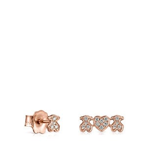 Rose Gold Les Classiques Earrings with Diamonds