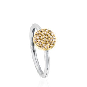 Anillo Gem Power de Titanio con Oro y Diamantes