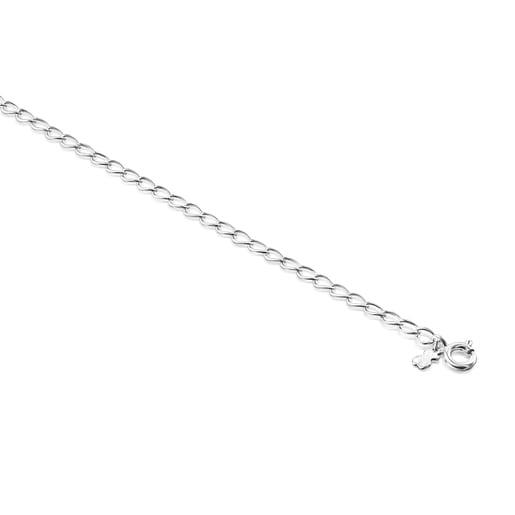Βραχιόλι Αστραγάλου TOUS Chain με ρόμβους από Ασήμι