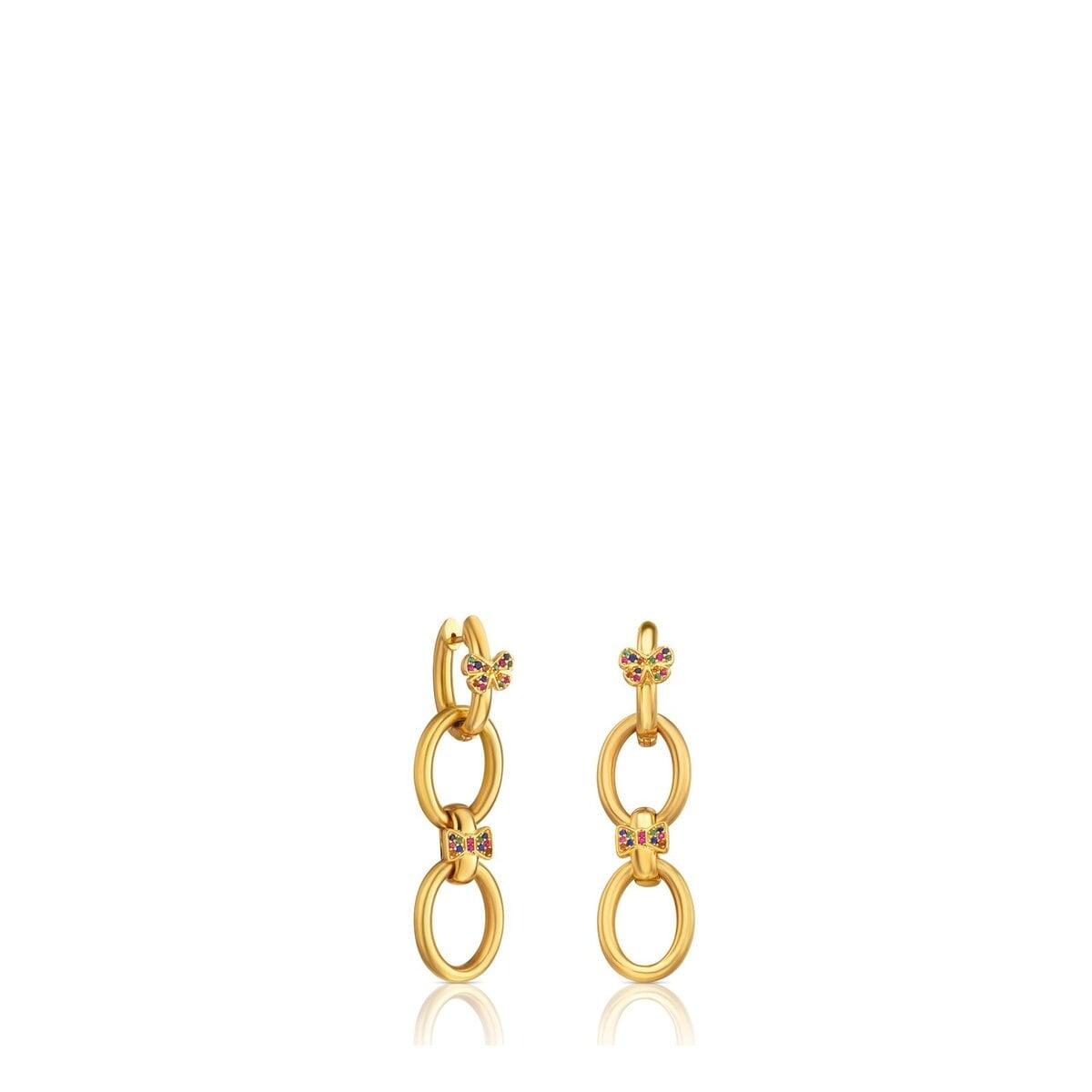 Vermeil Silver Gen Earrings with Sapphire
