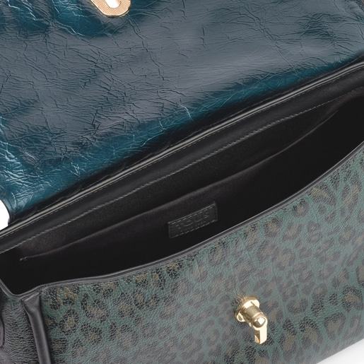 Medium leather green Bridgy Exotic crossbody bag