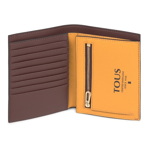 Billetera pequeña Tous Essential marrón y mostaza