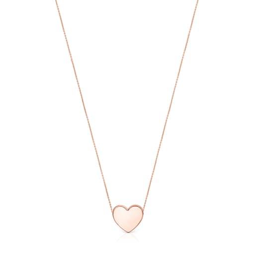 Collar Sweet Dolls corazón de Plata Vermeil rosa