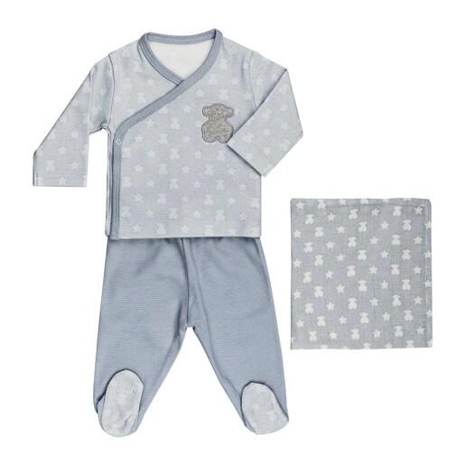 Set recién nacido Multipoints Azul celeste