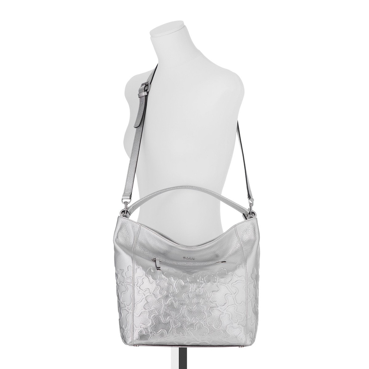 Silver colored Leather Kaos Block One shoulder bag