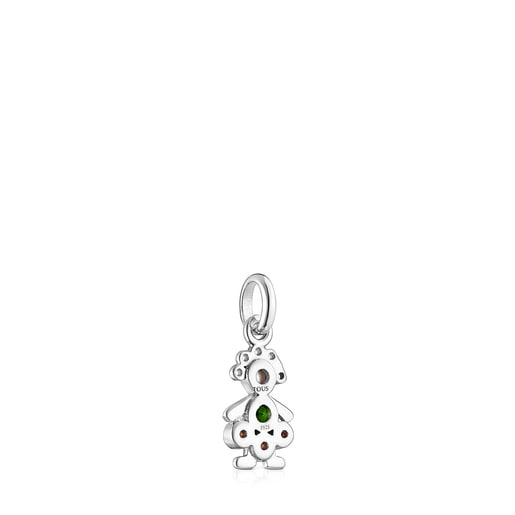 Silver TOUS Mama girl curls Pendant with Gemstones