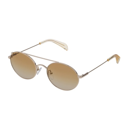 Gafas de sol Metal Bear de Metal en color oro claro