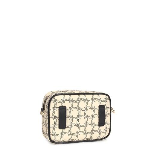 Black and beige TOUS Logogram Crossbody waist bag
