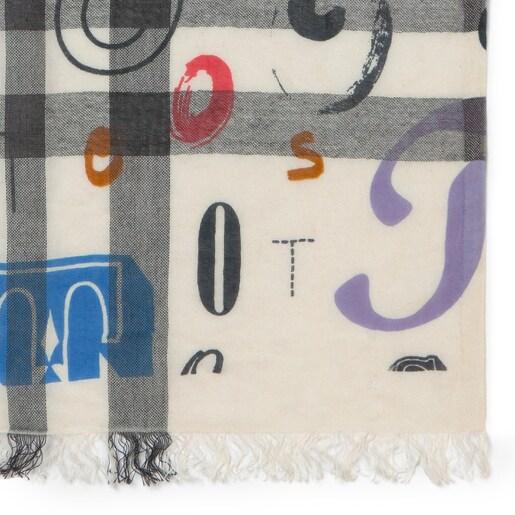 Πολύχρωμο Φουλάρι Alicya Letters