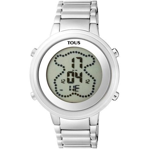 Reloj digital Digibear de acero