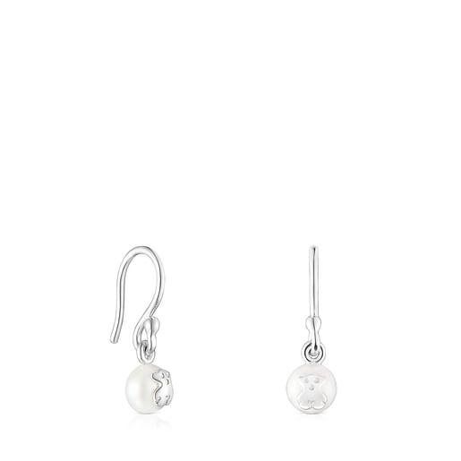 Aretes cortos Icon Pearl de plata y perla