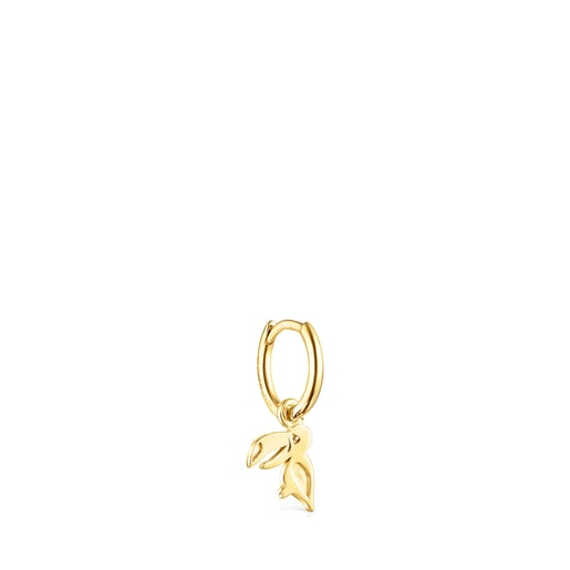 Silver Vermeil Save toucan 1/2 Earring
