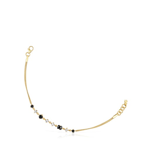 Silver Vermeil Glaring Bracelet with Onyx and Zirconia