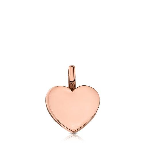 Rose Silver Vermeil Sweet Dolls heart Pendant
