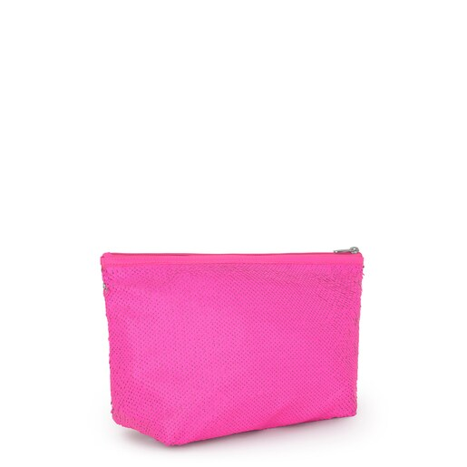 Small Neon Pink Kaos Shock Sequins Handbag