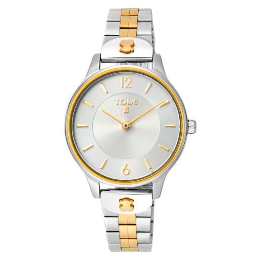 Two-tone gold-colored IP/Steel Len Watch