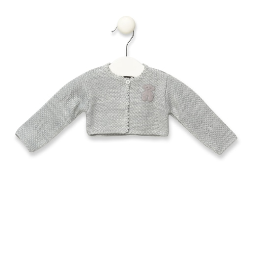 Orbed knitted jacket in Grey
