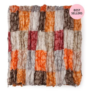 Foulard Kaos Cuadrados en color naranja-marrón