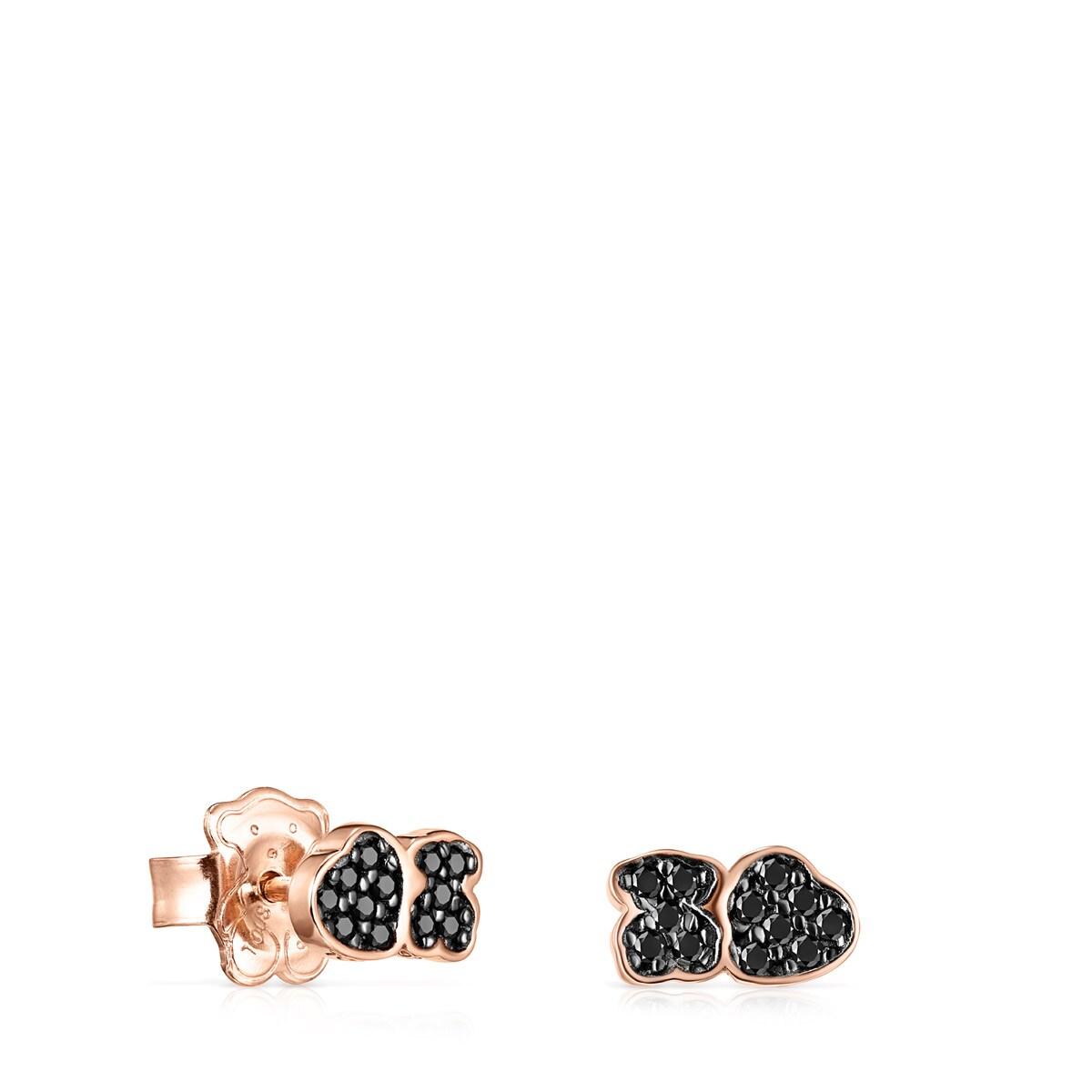 912b0936e5c0 Pendientes Motif de Plata Vermeil rosa con Espinelas - Tous Site US