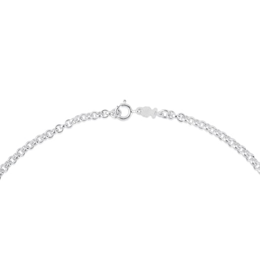 40 cm Silver TOUS Chain Choker with round rings.