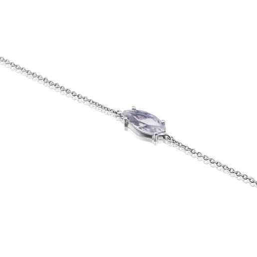 White Gold Eklat Bracelet with Topaz