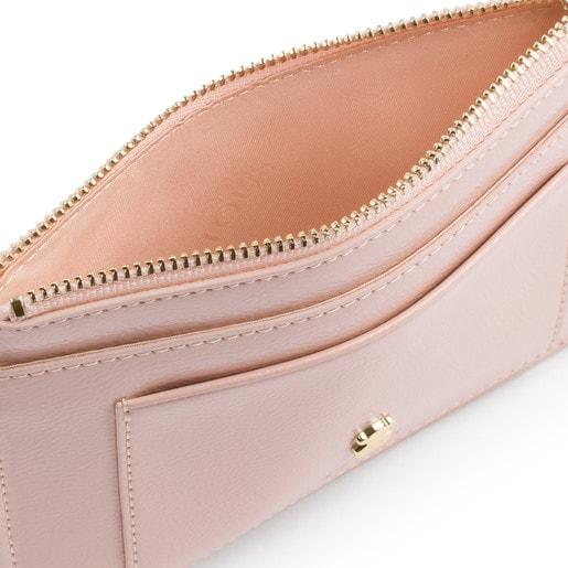 Flat antique pink Dorp toilet bag