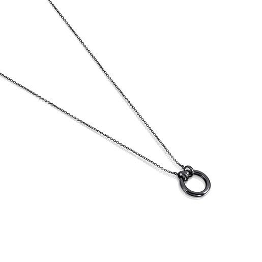 "Dark Silver Hold Necklace 63/100"" motif"